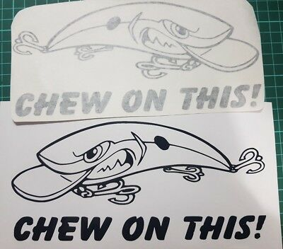 Chew on This! fishing decals/stickers - left & right