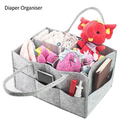 Baby Changing Bag Nappy Storage Bin Baby Diaper Wipes Bag Caddy Organizer Basket