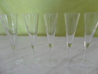Five Wine Flutes.italian Glass