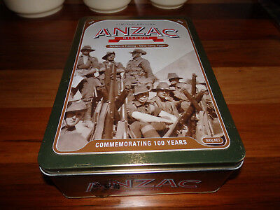 "Collectable Unibic Anzac biscuit tin . "" Soldiers in Training- Mena "". 2014"