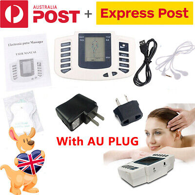 AU PLUG Electrical Stimulator Tens Muscle Pulse Massager Pain Relief Therapy NEW