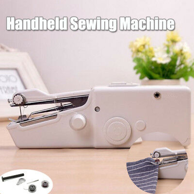 Mini Portable Handheld Cordless Sewing Machine Hand Held Stitch Home Clothes SET