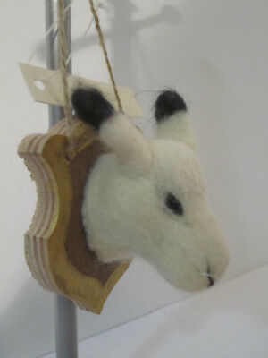 Harrods Plush Sculpted Mounted Llama Animal Head Ornament Plaque Taxidermy