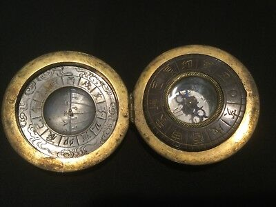 Super Rare Antique Japanese Scaphe Dial And Compass