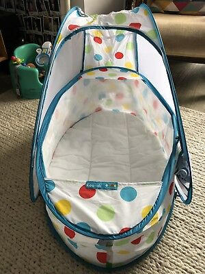 Koo-di POP UP BUBBLE  Baby Travel Cot / Free Travel Bag (Perfect Condition)