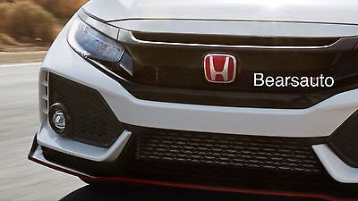 Genuine OEM 2017 Honda Civic Type R Front Grille Red Emblem Free Shipping