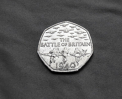 Battle of Britain Commemorative Coin 2015 x 1 - 50p Fifty Pence - VGC Circulated