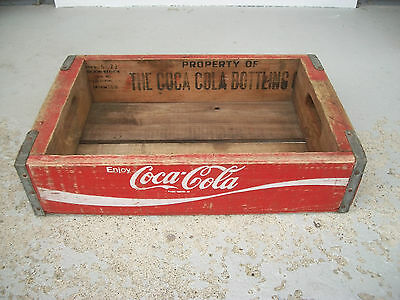 Vintage Wooden Coca Cola Coke Soda Crate Great Clear Graphics