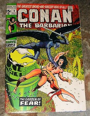 "Vintage 1971 (1st Series) MARVEL COMICS ""Conan The Barbarian"" #9  BARRY SMITH"