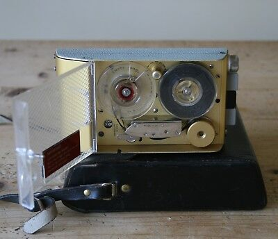 Vintage '60s Fi-Cord 101S Tape Recorder - SWISS Made By Stellavox + Leather Case