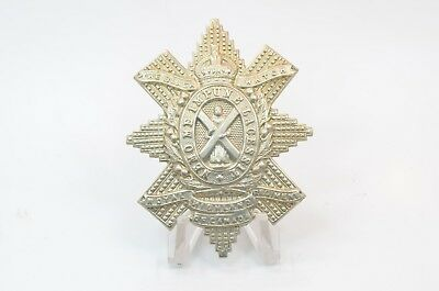 Black Watch (The Royal Highlanders) Cap Badge - Queen's Crown - Canada WW2
