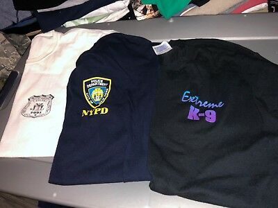 3 Different POLICE Dept Shirts XLarge