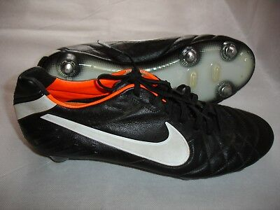 new style 9eb1d e218f NIKE TIEMPO LEGEND Iv Sg Black/orange Us8.5 Uk7.5 Eur42 Cm26.5