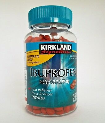 Ibuprofen 200mg 500 Tablets Pain Reliever !! FREE SHIPPING WORLDWIDE !!