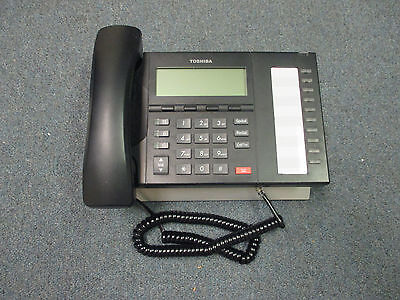 Toshiba Strata CIX DP 5022 SD Charcoal 10 Button Display Speaker Telephone  #B