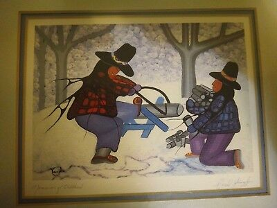 """Cecil Youngfox """"Memories of Childhood""""  Signed Native American Art Print"""