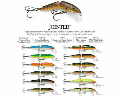 Rapala Jointed // J13 // 13cm 18g Fishing Lures (Choice of Colors)