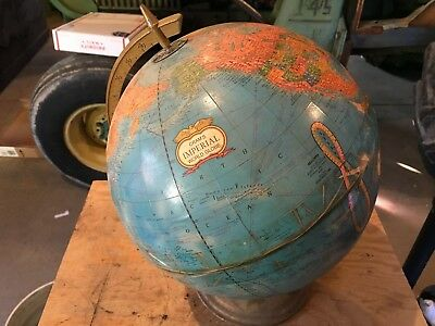 Vintage Cram's Imperial World Globe Made Usa, Metal Stand
