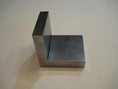 Angle Plate Machinist Toolmaker Hardened A-6 Grind Fixture 3 3/8 X 3 7/8 X 4 1/8