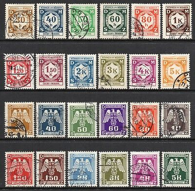 GERMANY 3rd REICH 1941 - 1943 BOHEMIA & MORAVIA Official Issues Fine USED