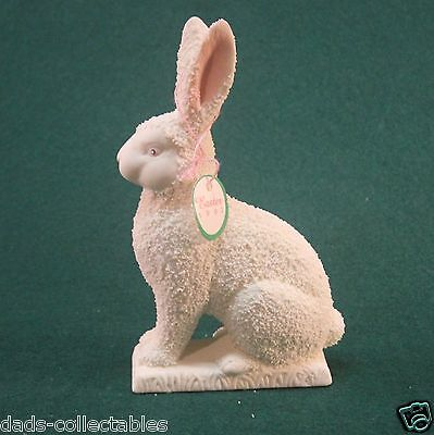 Dept 56 Easter Rabbit Large 1992 Bisque Porcelain 74985 Retired with Box