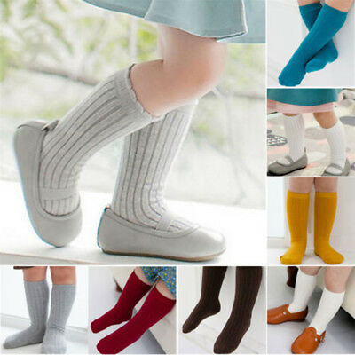 Infant Baby Toddlers Boys Girls Soft Cotton Knee High Long Socks Leg Stocking