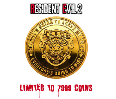 Resident Evil 2 Limited Edition Collector's Coin Gold Edition only 7000 made NEW