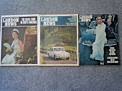 1966 &1968 London Motor Show Specials, 3 Issues Illustrated London News