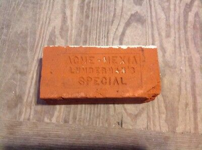 Antique Brick Stamped ***** Acme-Mexia Lumberman's Special   *******