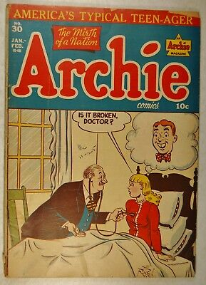 Archie Comics #30 (Jan-Feb 1948, Archie) Battle of the Jitterbug - Coach Piffle
