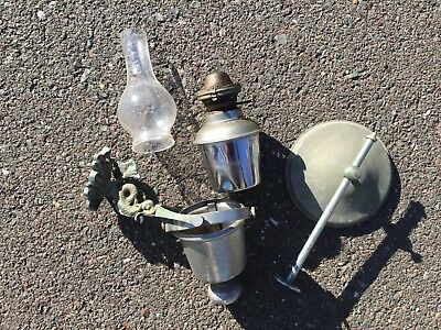 beautiful antique gimbaled oil lamp w/ Sea Dragon mount Sherwood made in England