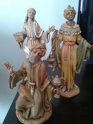 "Depose Italy Fontanini Roman 7.5"" Scale 3 Wisemen , #302, #303, and #304."