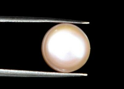 Round Natural White Pearl South Sea Loose Gemstone 5.25 Ct AGSL Certified D4132