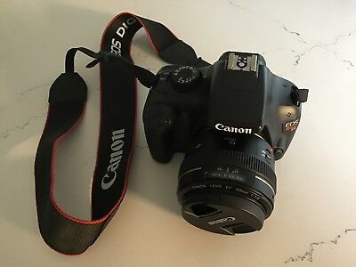 EOS Rebel T3 with 50mm 1:1.4 Lense (charger Included)