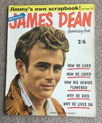 Original ....The Official James Dean Anniversary Book Magazine From 1956