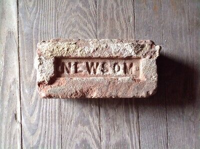 Antique Brick Stamped  *** Newsom  ***