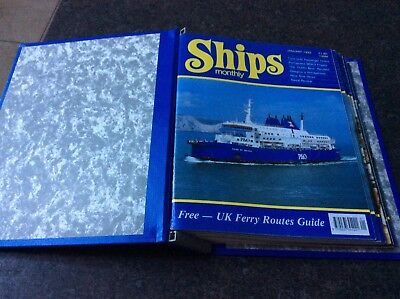 Ships monthly magazines in folder from January to December 1993
