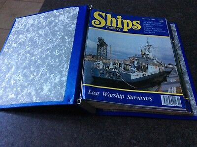 Ships monthly magazines in folder from 1991 and 1992 see description for issues