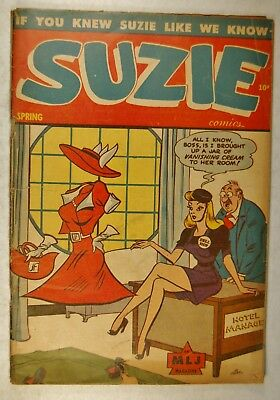 Suzie #49 (Spring 1945, Archie) Ginger Begins - Suzie Goes to the Dogs