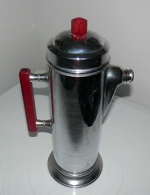 Art Deco Chrome & Bakelite Cocktail Shaker