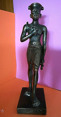ANTIQUES ANCIENT EGYPTIAN TROOPER PHARAOH STATUETTE FIGURINE ARTWORK 1955's