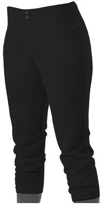 Women's Black Fastpitch Softball Size Large Low Rise Pant Alleson 625PLW NWT