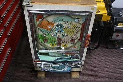 "Japanese Nishjin Pachinko Pinball Machine ""Beautiful"" as is"