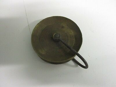 Large Antique Pulley Wheel For 30 Hour Longcase Clock Brass