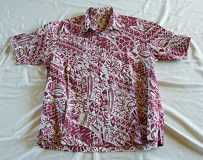 Kahala Turtles Hawaiian shirt, made in Hawaii XL