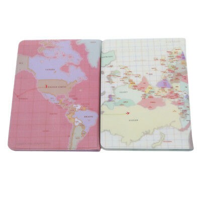 World Map Passport Cover of the Passport Wallet Female Passport Holder L