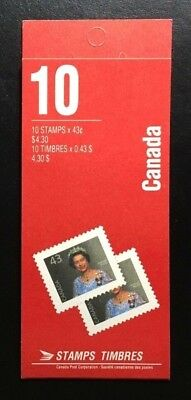 Canada #BK155b AP CP, Queen Elizabeth II Definitive Booklet of Stamps 1992