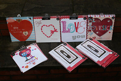 Valentines Day Cards -Joblot Wholesale-68 X M&s Large 9''x9''luxury Cards-£240