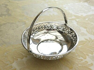 Vintage Silver Plated Footed Bowl With Floral Pierced Work Pattern   1340690/683