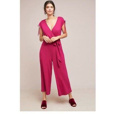 3a63cf88266  148 ANTHROPOLOGIE JETSETTER Cropped Jumpsuit NWT new size XS ...